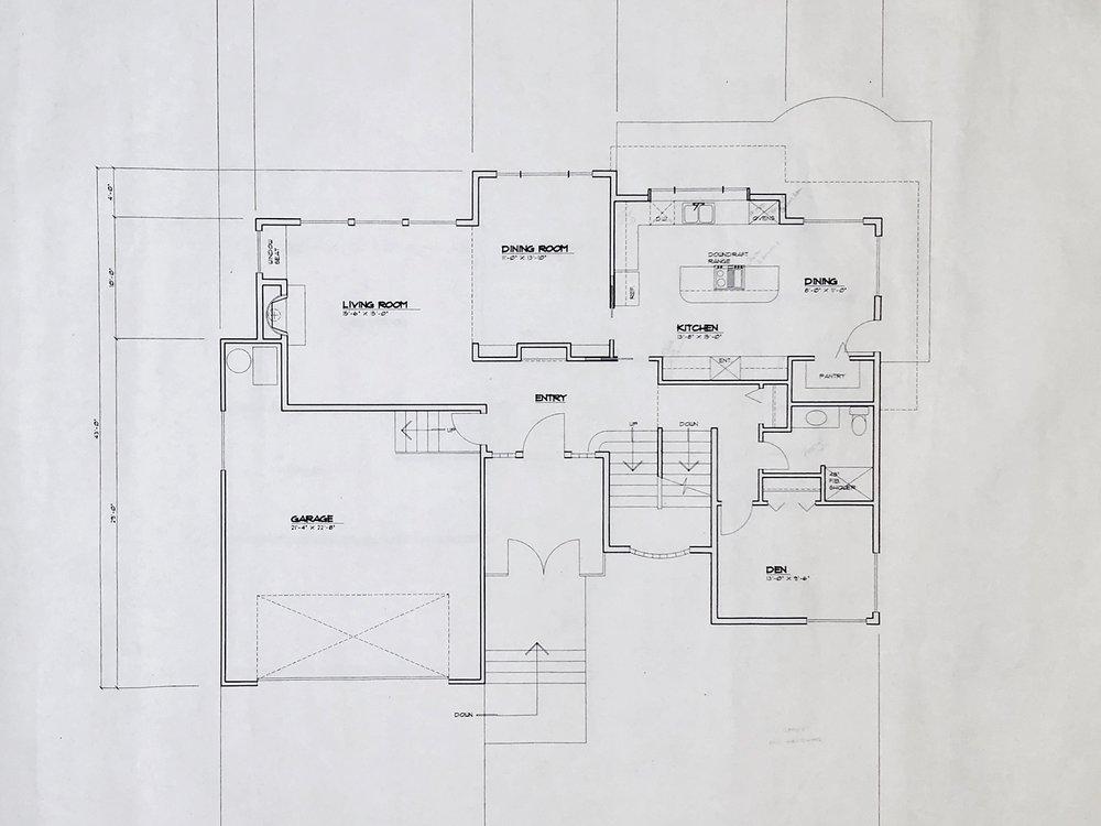 Original Main Level Floor Plan