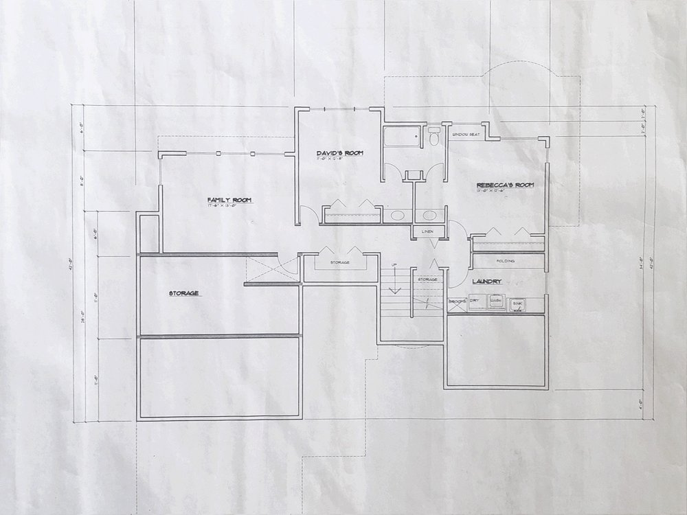 Original Lower Level Floor Plan