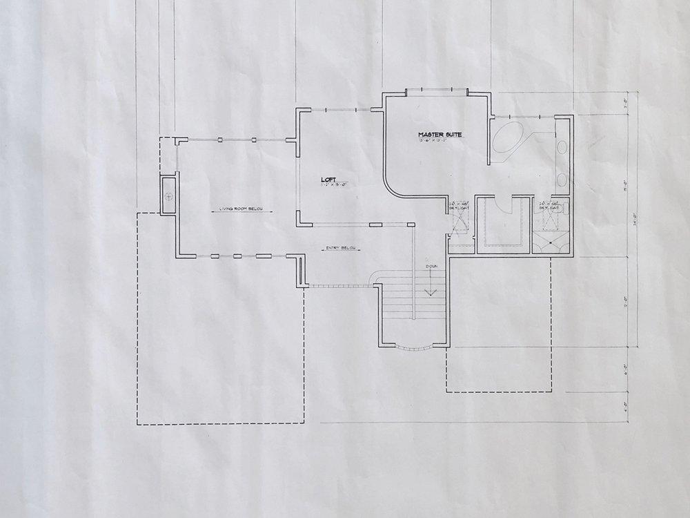 Original Master Suite Level Floor Plan