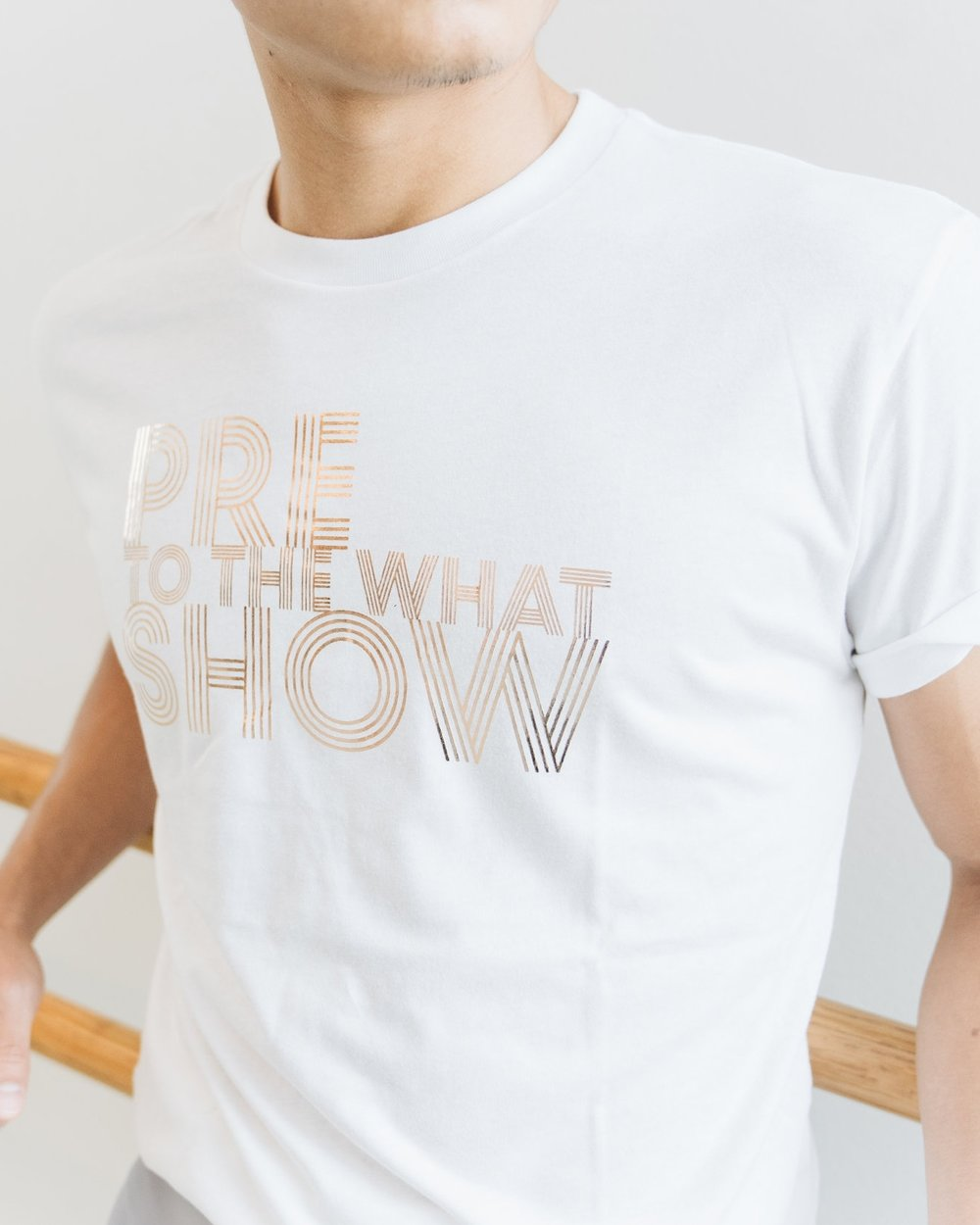 The Pre-Show Tee in white - $24