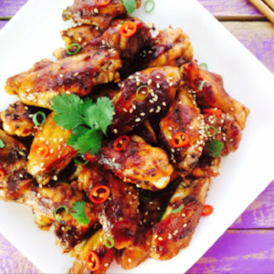 Sticky Chinese Chicken Wings / via Monash University