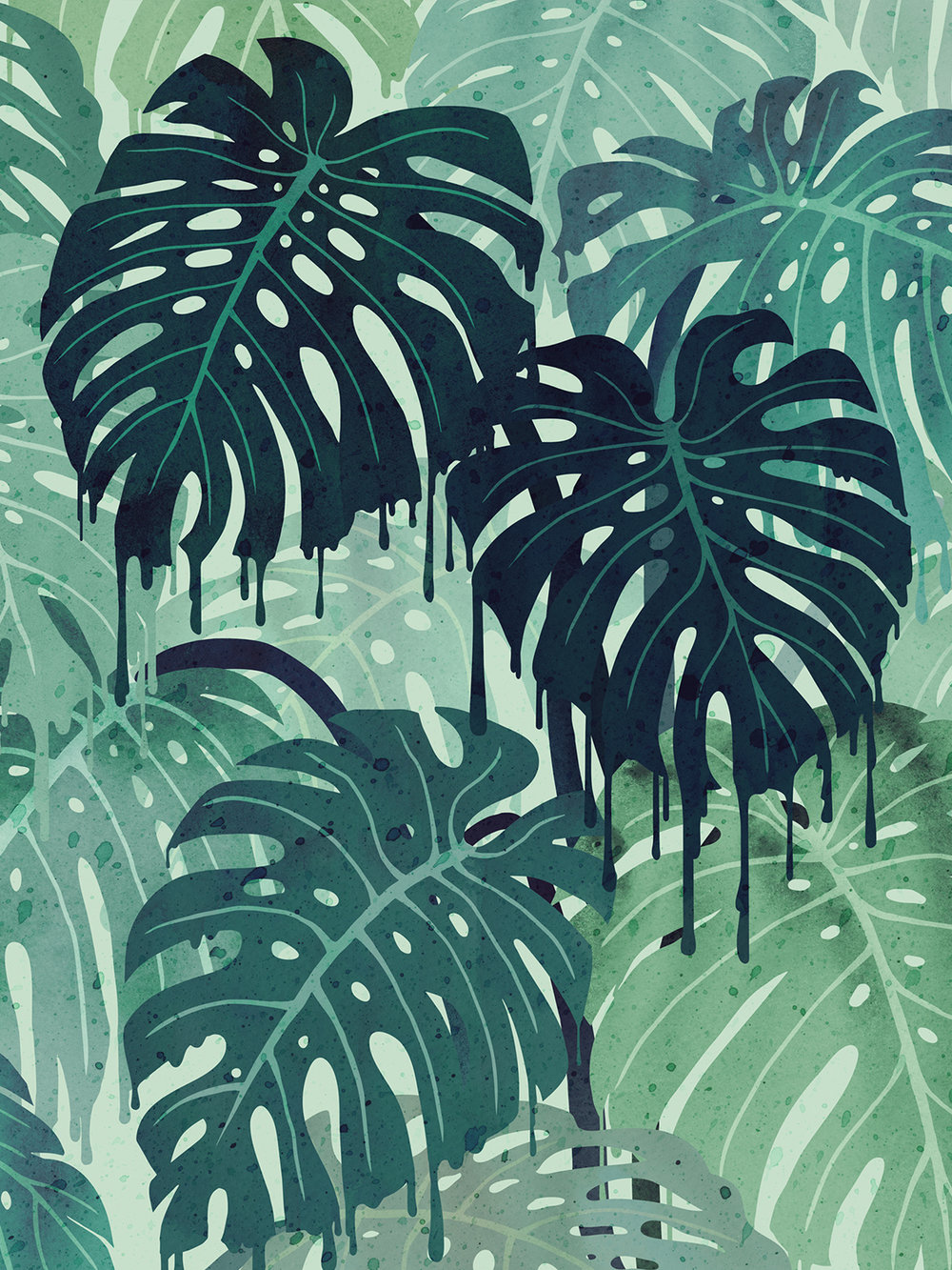 Monstera Melt (in Green)