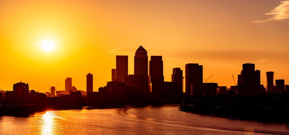 Sunrise at Canary Wharf