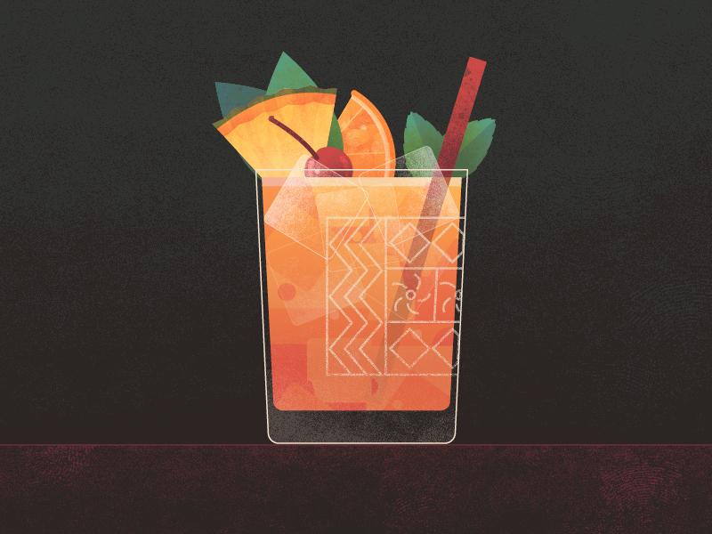 Cocktail Mai Tai Animation 02