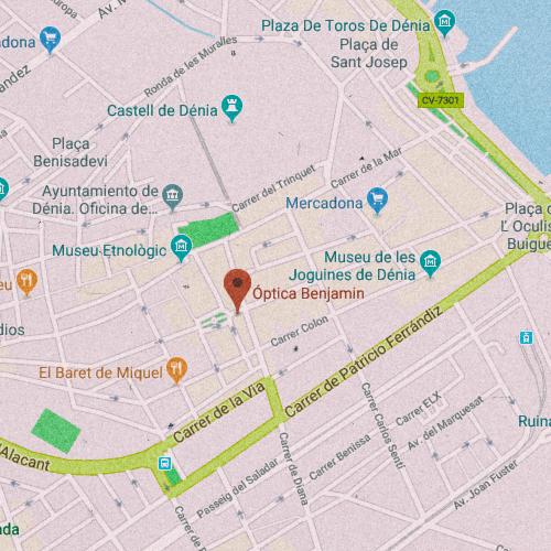 ÓPTICA BENJAMÍN Marqués de Campo, 2 03700 Denia, Alicante 965 084 846