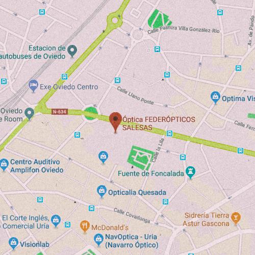 FEDEREÓPTICOS SALESAS Centro Comercial Salesas s/n local 015, 33002 Oviedo, Asturias 984 291 625