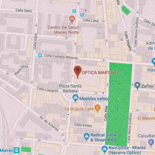 ÓPTICA MARTÍNEZ Plaza Sta. Bárbara, 8, 33600 Mieres, Asturias 985 466 316