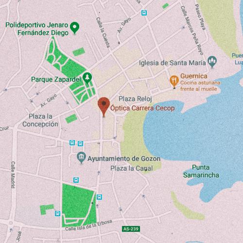 ÓPTICA CARRERA Calle Marcelino Rodríguez, 10, 33440 Luanco, Asturias