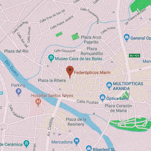 FEDEREÓPTICOS MARÍN Calle Sta. María, 4, 09400 Aranda de Duero, Burgos 947 511 533