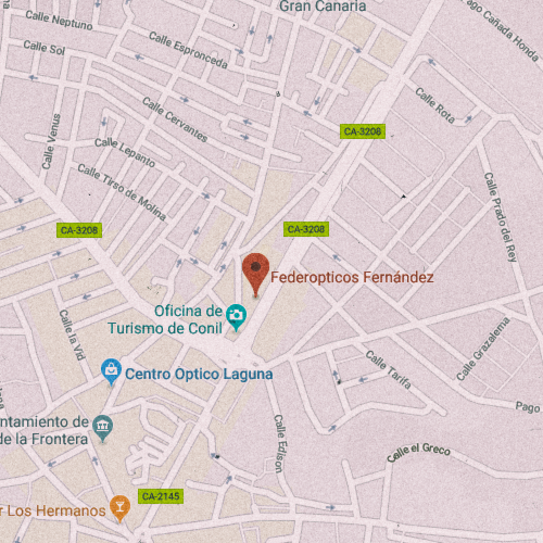 FEDEREÓPTICOS FERNÁNDEZ Calle Carretera, 9, 11140 Conil de la Frontera, Cádiz 956 440 026