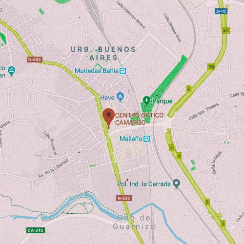 CAMARGO CENTRO ÓPTICO Av. de Bilbao, 79, 39600 Muriedas, Cantabria 942 254 245