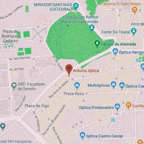 ÓPTICA ANTONIO Rúa de Montero Ríos, 39, 15701 Santiago de Compostela, La Coruña 981 590 868