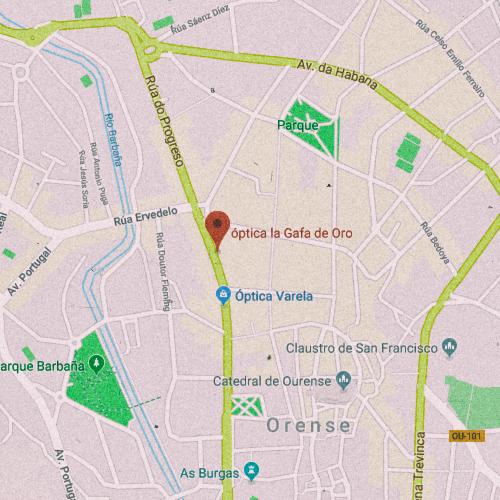 ÓPTICA LA GAFA DE ORO Rúa do Progreso, 44, 32003 Ourense 988 213 408