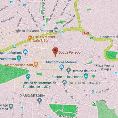 CENTRO ÓPTICO PERLADO Calle Aduana Vieja, 10, 42002 Soria 975 230 050