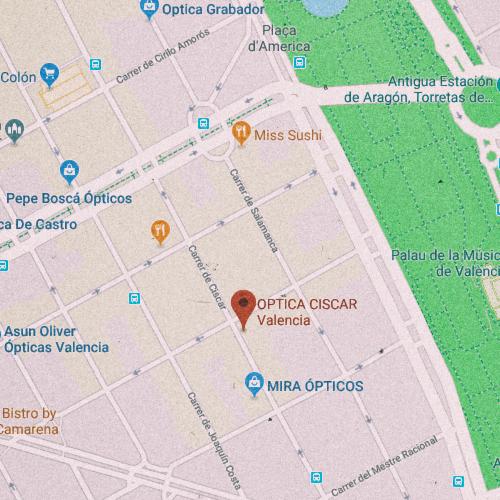 ÓPTICA CISCAR Carrer de Ciscar, 29, 46005 València 963 341 404