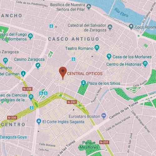 CENTRAL ÓPTICOS 1º B, Calle Felipe Sanclemente, 6, 50001 Zaragoza 976 210 495
