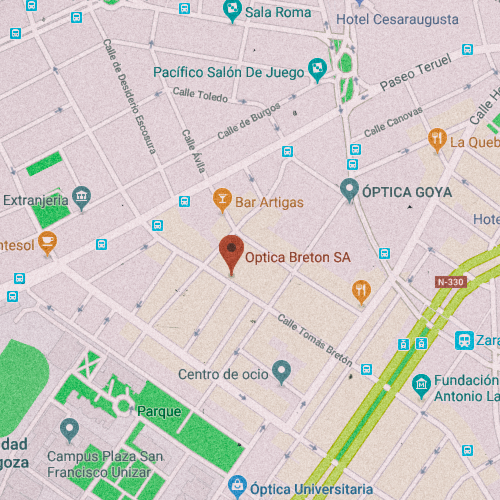 ÓPTICA BRETÓN Calle Tomás Bretón, 34, 50005 Zaragoza 876 285 419