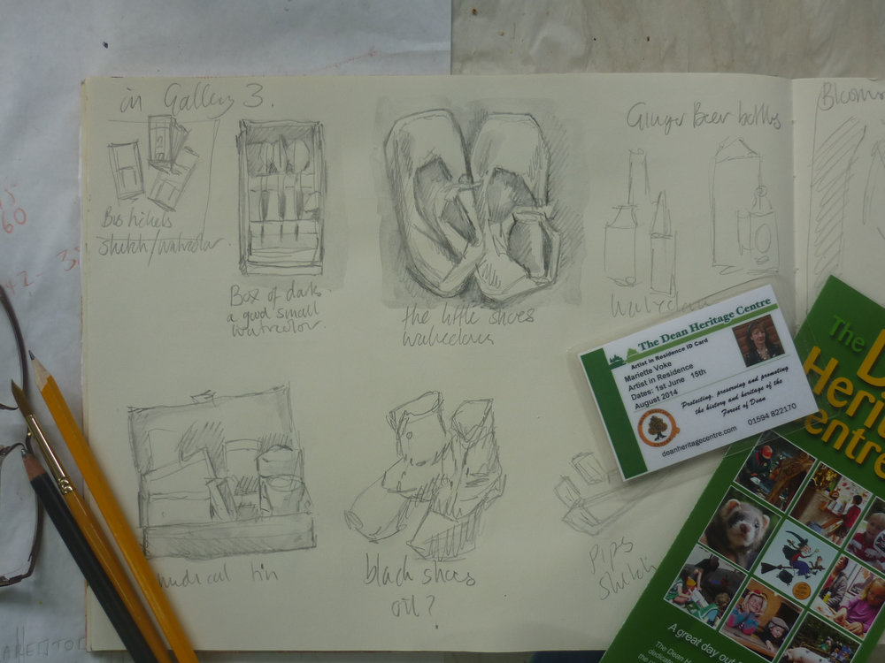 Artists sketch book, painting ideas at The Dean Heritage Centre.