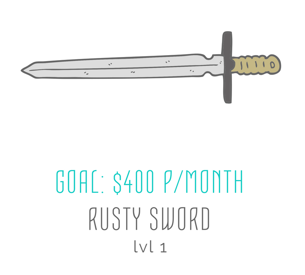 rachael stephen rusty sword goal patreon