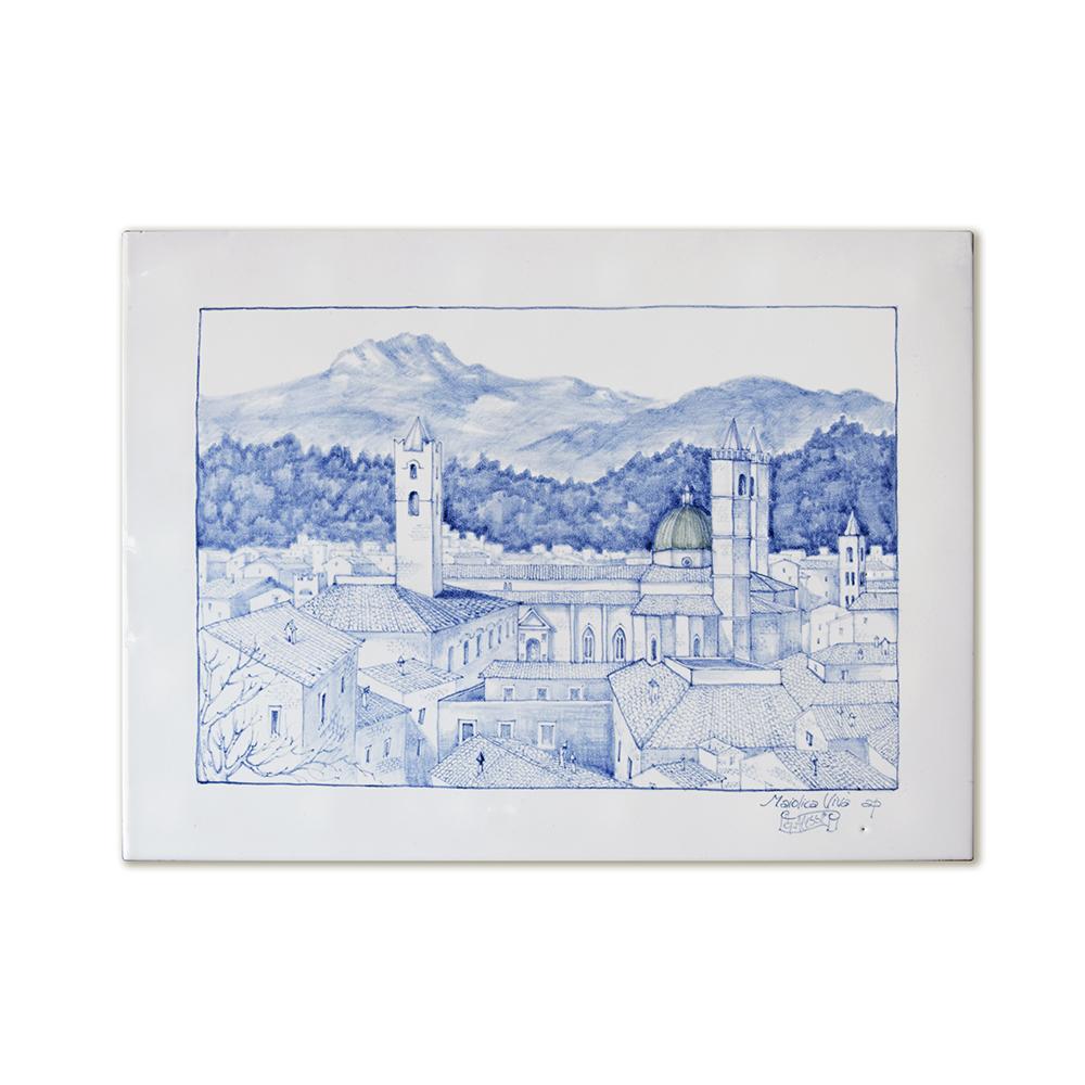 """Ascoli Light Blue Skyline"""