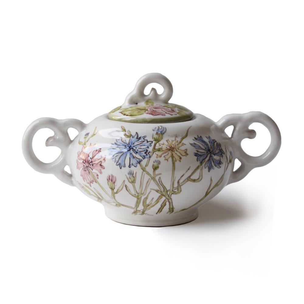 Servizio da tè – Zuccheriera con fiordalisi