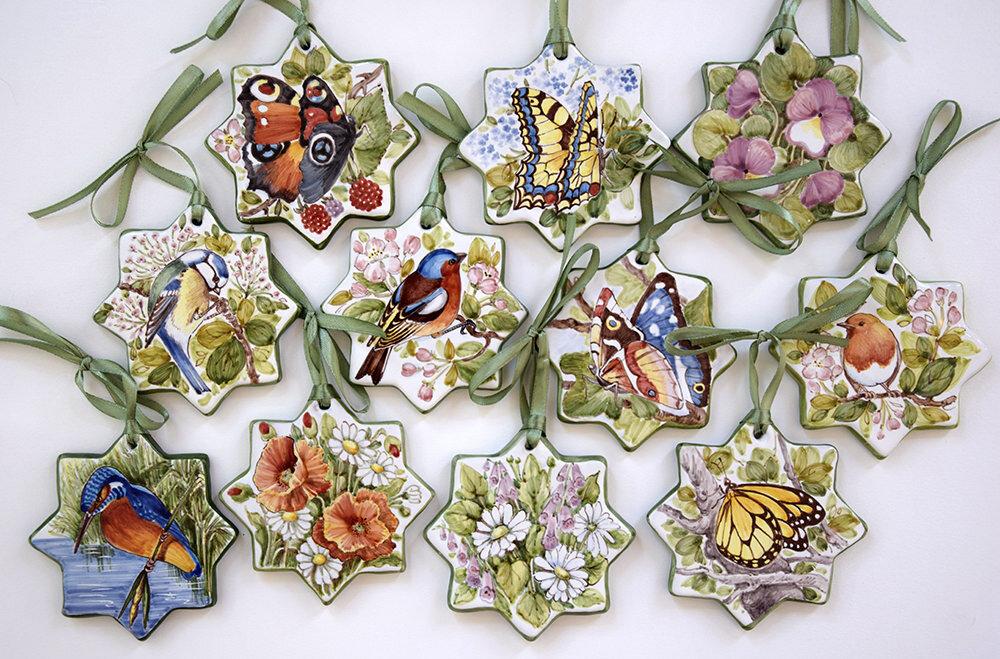 Set di stelle ornamentali