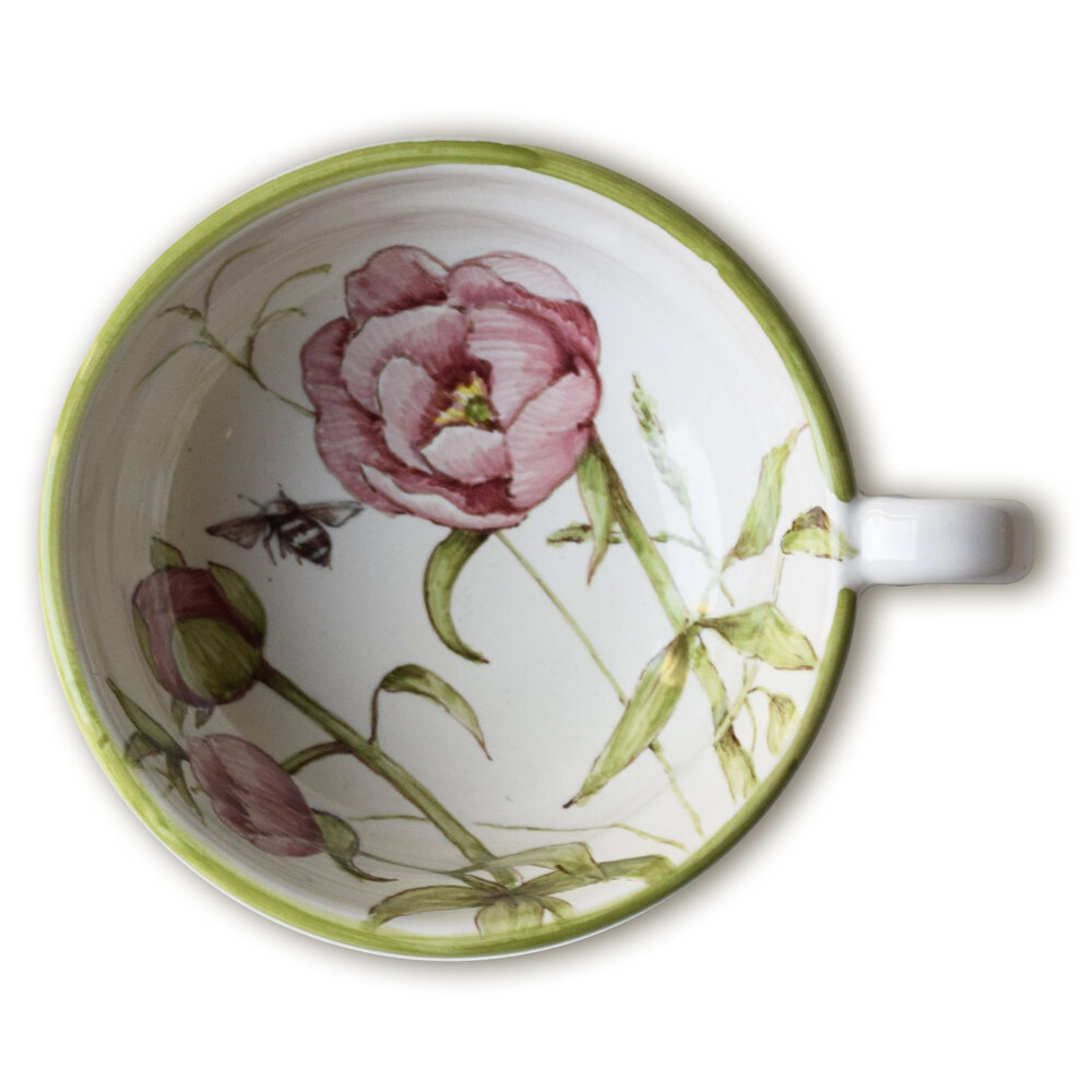Servizio da tè: tazzina con fiore di peonia