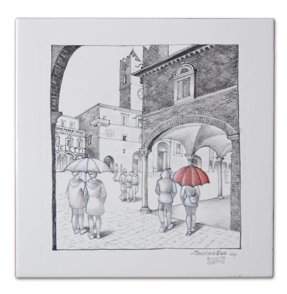 Raining day in Ascoli