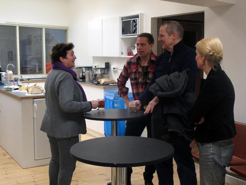 Christel Hansson, Robert Moreau, Johan Röing och Marie Loft