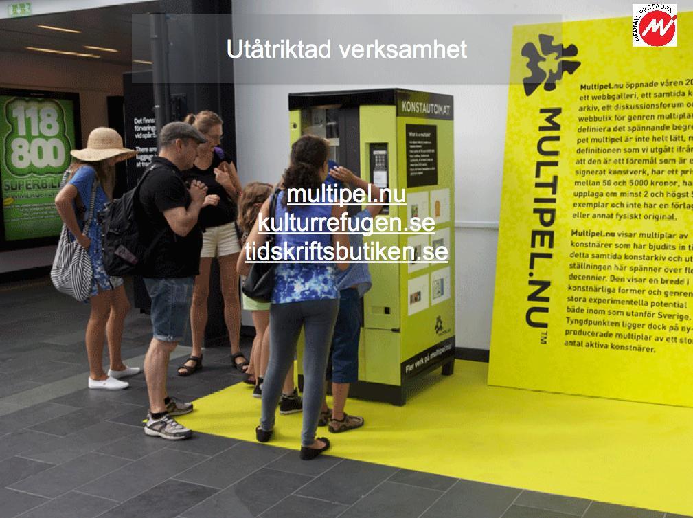 Automat för multipelkonst och reklampelare