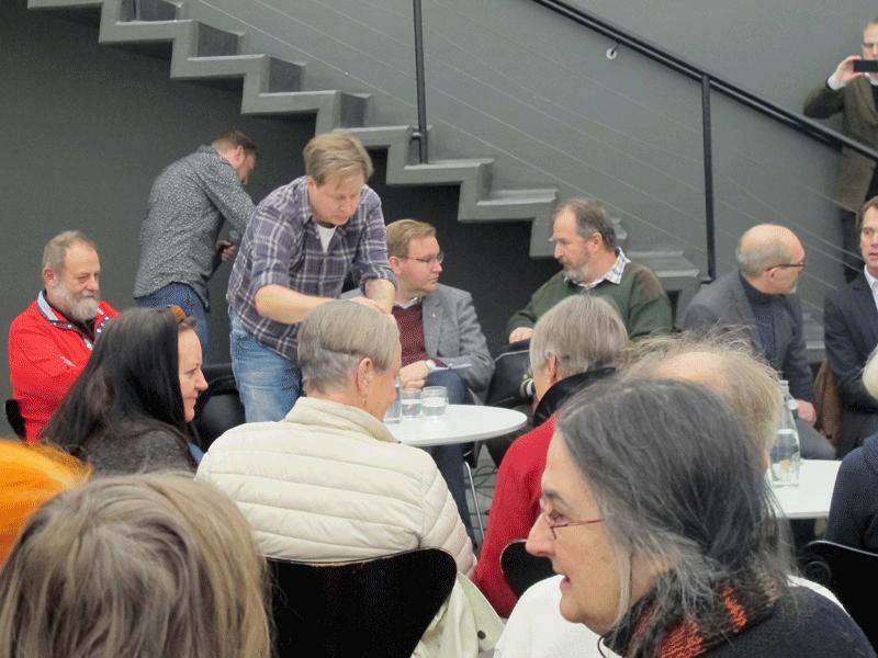 Fr vänster: Göran Fries, Peter Bergwall, Joakim Friberg och Zoltán G-Wagner