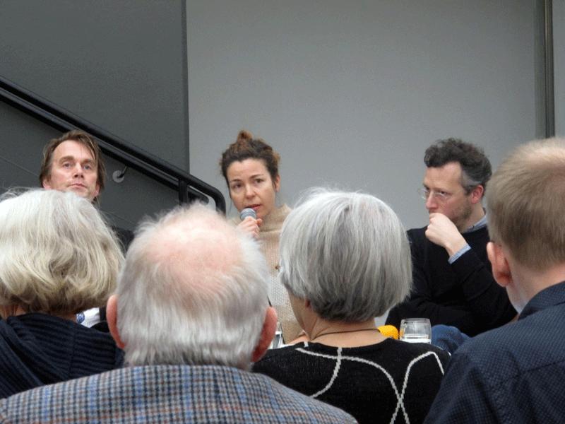 Fr vänster: Dan Jönsson, Elena Tzotzi och Luca Frei