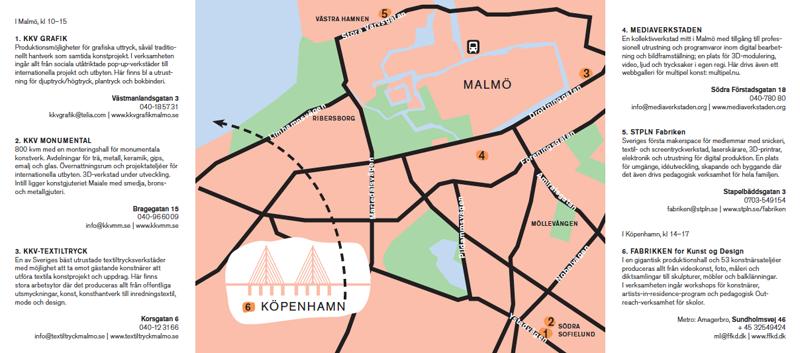 Karta Verkstädernas dag 28 maj 2016