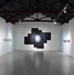 """Bild: """"Tunnel Light"""". Målning på duk 4x3 meter. Från utställningen på Contemporary Yuannan Gallery, Kunning, Kina"""