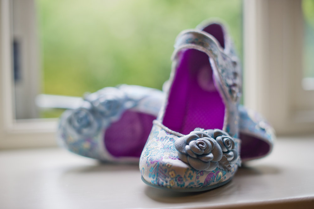 Katy's Wedding Shoes shot during the pre wedding shoot.