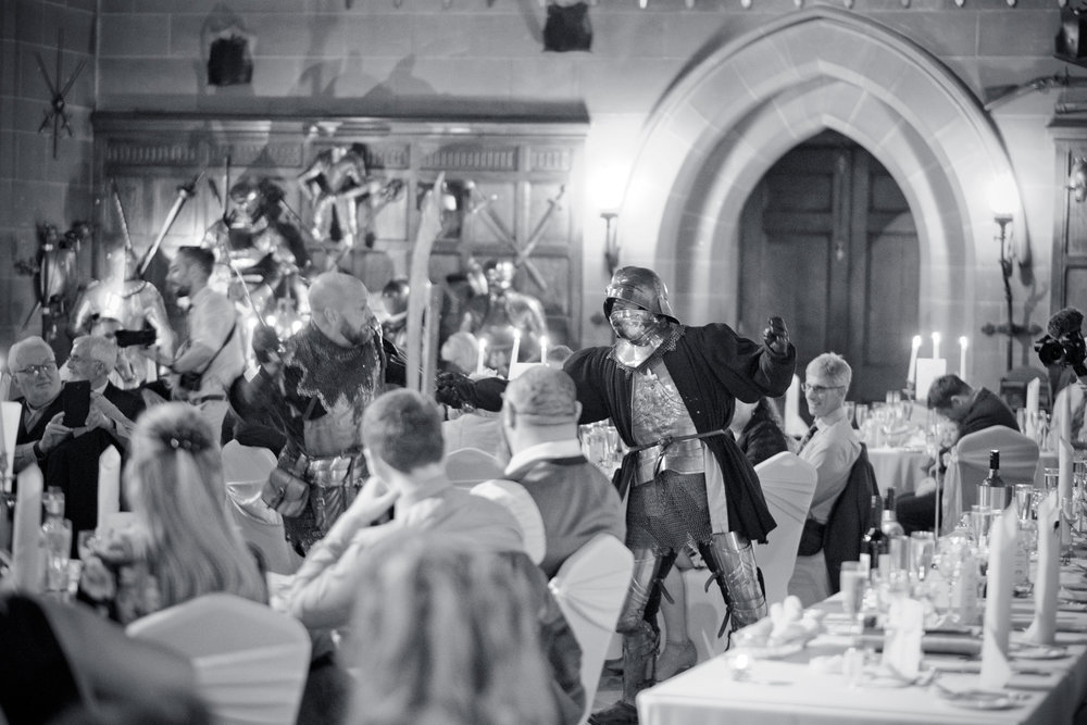 Dueling Knights during the wedding breakfast