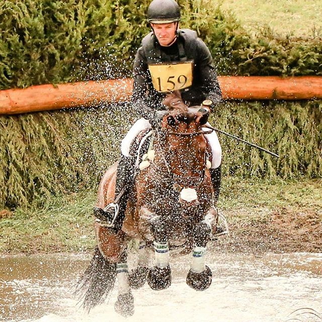 #tbt to Matt and Wizzerd cooling off at Fair Hill #goeventing #eventing #kwpn #crosscountry #eventersofinstagram 📷 Shannon Brinkman