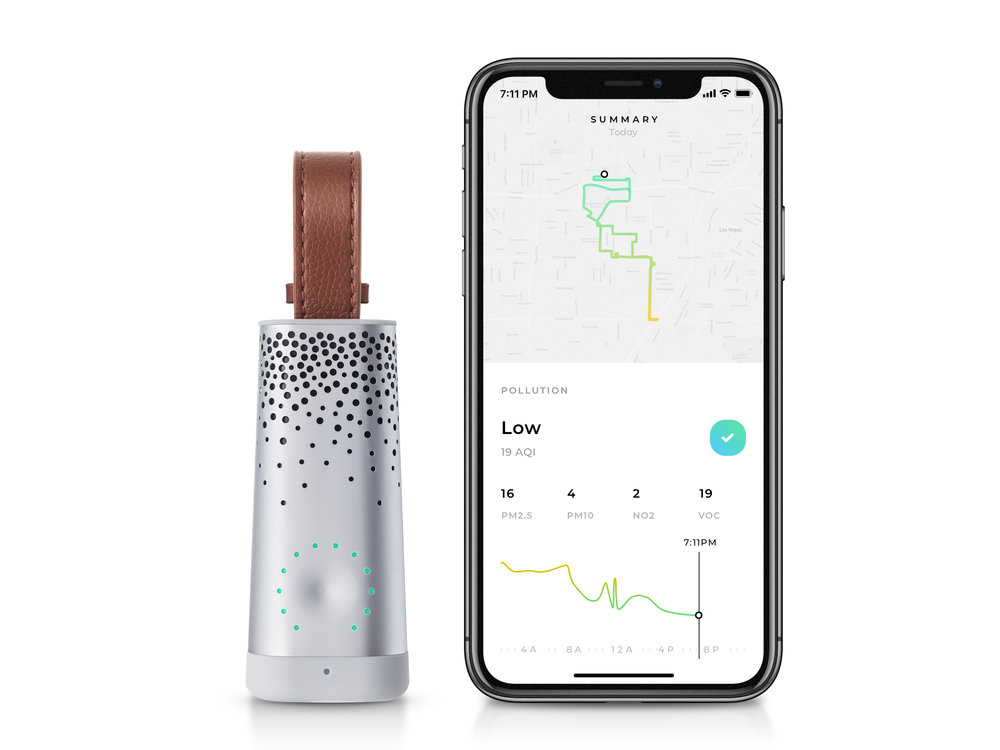 The personal air quality tracker -