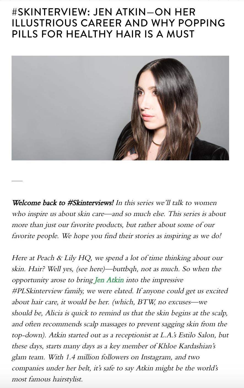 Peach & Lily Company Blog