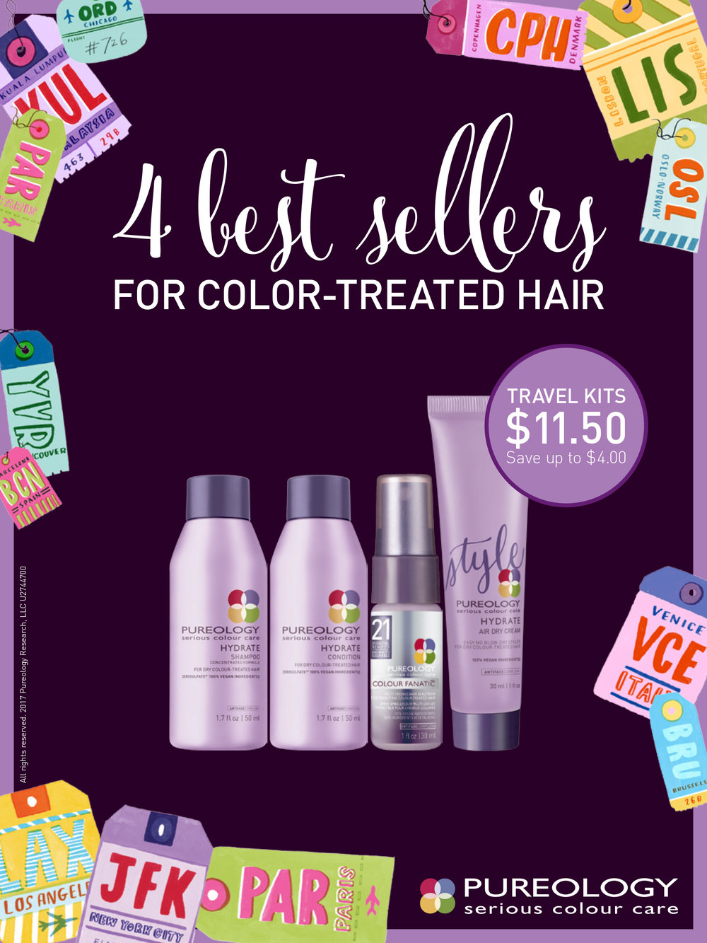 Pureology Retail Collateral