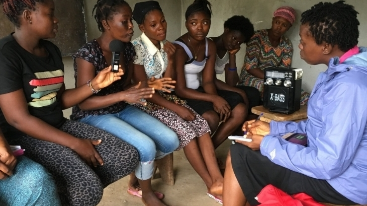 Our female journalists produce and share empowering podcasts with women and girls living in rural communities.