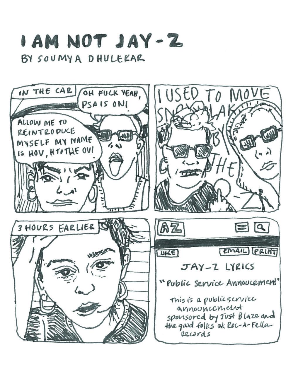 I Am Not Jay-Z | Soumya Dhulekar