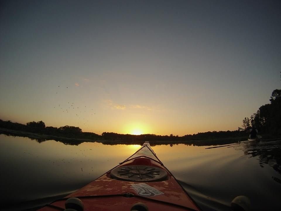 Kayaking in the upper reaches
