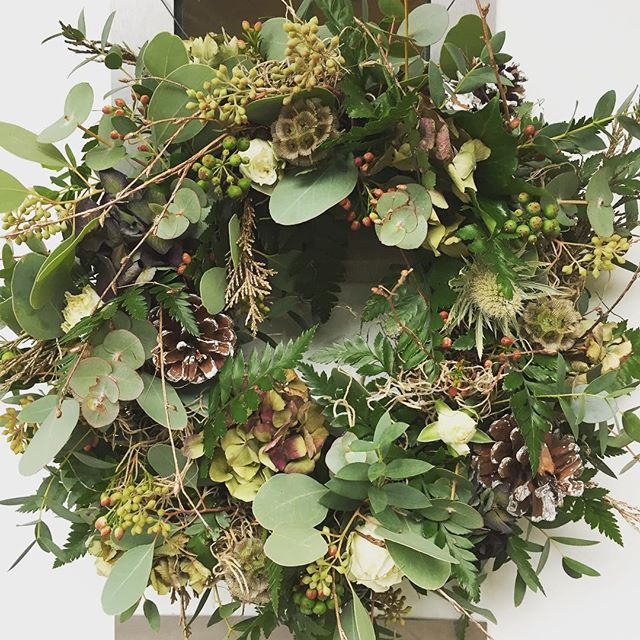 Natural Woodland Style Wreath starting from £45 (Wreath pictured £60)