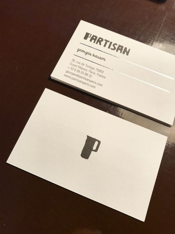 Partisan Café / brand id