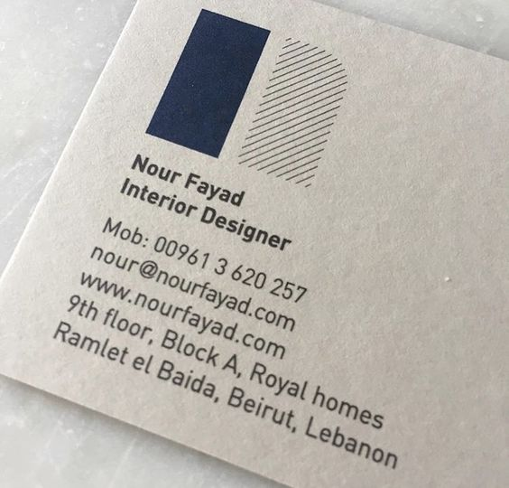 Nour Fayad interior designer / brand id