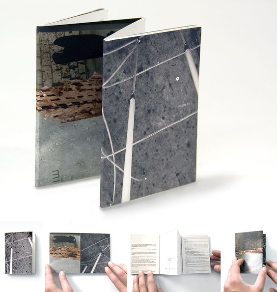 Each booklet shows conceptual sketches and photographs from one installation, and the binding surface between both books features the plan and the relation between both locations..jpg