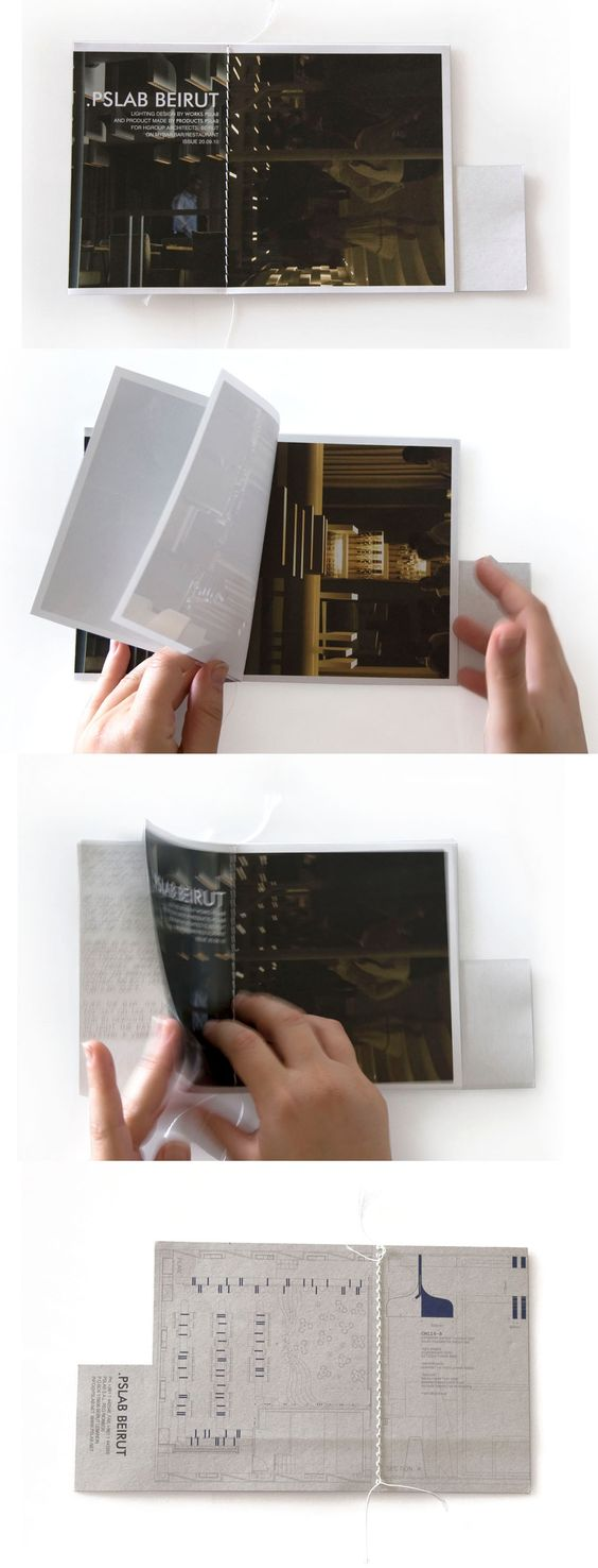 [...]Publication by PSLAB on Mybar restaurant, Beirut, Lebanon. This booklet is defined by the division between images highlighting the product irregular shape and atmospheric shots of the restaurant.jpg