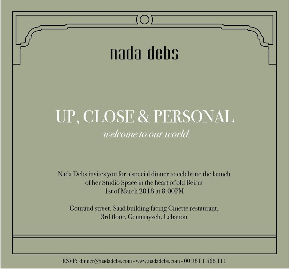 Nada Debs product designer / e-invite