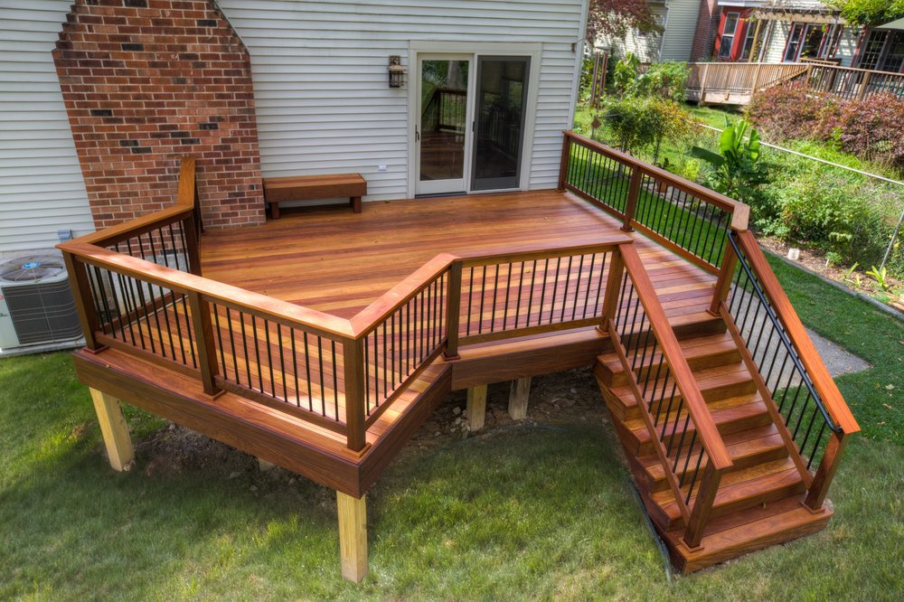 Decks and Railings - •    New and replacement  Porch Flooring, Column & Railings of Existing Structures•    Full Deck & Railing Replacement of existing structures using pressure treated wood, composite & PVC Decking & Porch materials•    Wood, Composite & PVC Railings Systems•    Wood, Composite & Wood Porch Columns